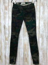 Elizabeth and James Textile Debbie Skinny Jeans Pants Camo Camouflage Green 24
