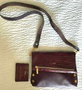 New Hammitt VIP Medium Freestyle Leather Bag & 126 Card Case Wallet