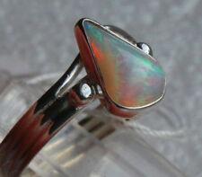 Brazil Kristall Opal 1.7 Cts. 950er Silberring Größe 17,5 mm