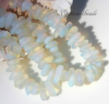 Pebble Beads, Moonstone Opal  w/Frosted Sea Glass Finish, 12x9mm,  22Pieces
