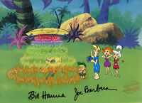 Jetsons-George/Jane/Elroy/Judy-Original Production Cel Signed By Hanna + Barbera
