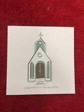"5 Pack of Paper Eskimo ""Church"" Congratulations 3D Wedding Greeting Card"