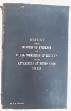 Bundaberg Royal Commission Children Vaccination Deaths,1928 AH.Tebbutt *Leather*
