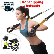 Home Gym Suspension Resistance Strength Training Straps Workout Fitness Trainer