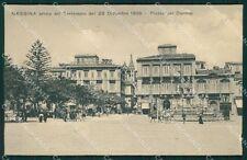 Messina Città Carrozze ABRASA cartolina XB0578