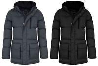 New Kids Boys Zipped Padded Hooded Warm Puffer Jacket Parka Coat