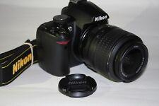 Nikon D D3000 10.2MP Digital SLR Camera - Black (Kit w/ AF-S DX VR 18-55mm Lens