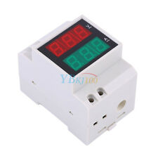 200-450V Digital Din Rail Show Meter Voltage Ammeter Voltmeter Current LED