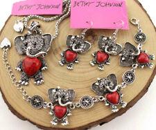 Set Pendant Betsey Johnson Jewelry Elephant Turquoise Necklace Earring Bracelets