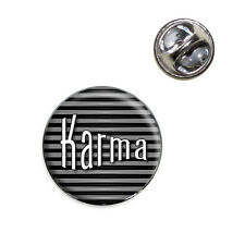 Karma Your Fate and Destiny Lapel Hat Tie Pin Tack