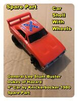 "General Lee Stunt Buster Dukes of Hazard 4"" Car by Knickerbocker 1980 Spare Part"