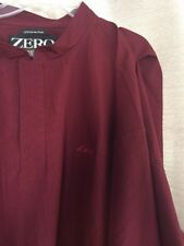 Mens Zero Restriction Maroon Golf Jacket LTW Fairway Check Sz. XL
