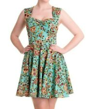 Hell Bunny Sugar Skull Dress Green size L S XS Ladies Rockabilly