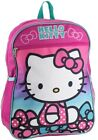 "Hello Kitty Girls 15"" Kids Large Backpack Pink"