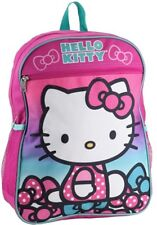 """Hello Kitty Girls 15"""" Kids Large Backpack Pink"""