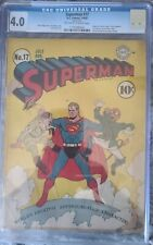 SUPERMAN 17 CGC (4.0)  VERY GOOD Hitler/Hirohito cover. 1st Fortress of Solitude