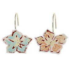 Waverly Honeymoon Shower Curtain Hooks Peach & Blue Flowers Set of 12 - New