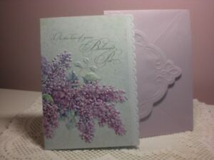 Carol's Rose Garden -  Pet Sympathy card - Lilac flowers on the front