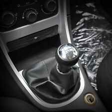 New 5 SPEED LEATHER GEAR SHIFT KNOB GAITOR BOOT FOR Peugeot 106 107 206 207 306