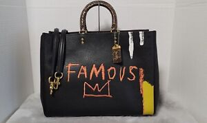 Coach X Jean-Michel Basquiat Rogue 39 With Snakeskin Detail NEW w/tags !