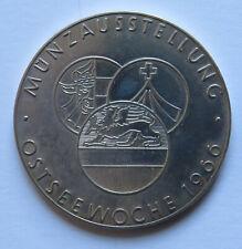DDR Silbermedaille Münzausstellung Ostseewoche 1966, Dt. Kulturbund Bez. Rostock