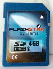 Flashstar by Hama 4GB SD/SDHC class 6 memory card including case.
