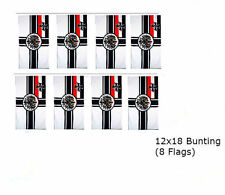 German Imperial WWII 12x18 Rough Knitted Bunting String Flag Banner (8 Flags)