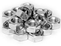 250 PIECE METRIC FULL NUT SELECTION M4 M5 M6 M8 M10 M12 - BZP ZINC PLATED NUTS *