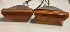 Set of Lucas L858 Front Flasher Lamps 54887 off 1973 Jensen Healey —T2–