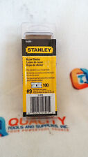 New Stanley 11-515 1-1/2-Inch #9 Single Edge Razor Blades (100-Pack)