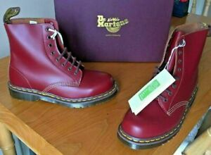 Dr Martens 1460 oxblood quilon leather boots UK 6.5  EU 40 Made in England