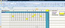 SIMPLE GOLF SKINS GAME EXCEL PROGRAM, Enter Scores & Highlight winning SKINS