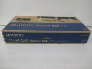 Samsung LS34J550WQNXZA 34-Inch QHD Ultra Wide Monitor, Black - FACTORY SEALED