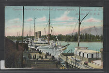 POSTCARD Canadian Pacific Dock EMPRESS OF INDIA Vancouver BC 1910