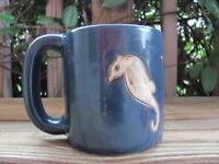 "Mara~Sea Horses~Mexican Pottery~Stoneware~4½"" Coffee Mug"