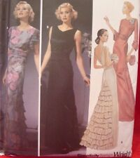 SEWING PATTERN Simplicity 5876 RETRO DRESS GOWN 30's 40's Art Deco Sz 14-20