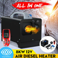 NEWSET WARMTOO All In One 8KW 12V Diesel Air Heater Car Parking Heater