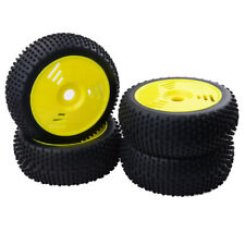 RC 1/8 Buggy Truggy Rubber Tyre Tire & 17mm Hex Wheel Accessories Set - 4PCS