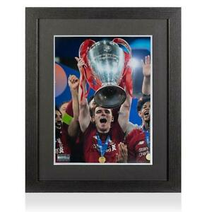 Andy Robertson Signed Liverpool Photo In Black Wooden Frame: 2019 UEFA Champions