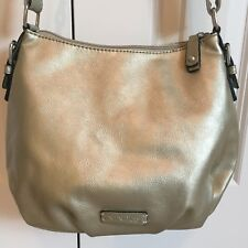 NINE & Co Brand GOLD COLOR HOBO BAG SHOULDER PURSE Lots of Zipper Compartments