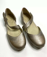 OTBT Pacific City 10 M Mary Jane Flats Leather Shoes Metallic Women's