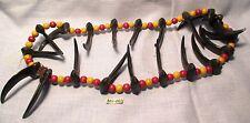 precedenti cerimoniale indiano collana con 20 MARRONE ARTIGLI & grani in legno