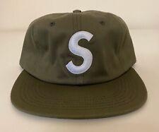 Supreme S Logo 6-Panel Olive White F/W 2014 Hat Cap RARE BRAND NEW w Tags