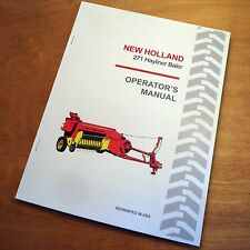 New Holland 271 Baler Hayliner Operator's Owners Book Guide Manual NH