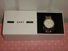 DKNY Women's Soho Gold Stainless Steel Chronograph Watch Silver Dial 38mm NY2274