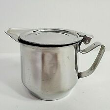 Adcraft 18-8 Stainless Steel Covered Syrup Pitcher Creamer Restaurant Style A-T