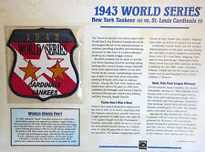 1943 WORLD SERIES PATCH CARD Willabee Ward NEW YORK YANKEES / ST LOUIS CARDINALS