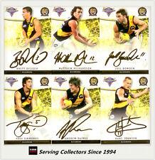 2007 Select AFL Champions Gold Foil Signature Card Team Set (6)-Richmond
