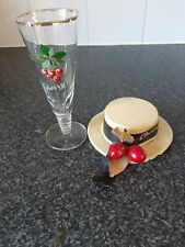 More details for cherry b glass with matching boater hat
