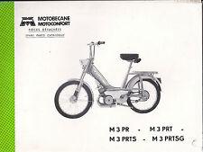 Pièces détachées -Motobécane - Motoconfort-M3PR-M3PRT-M3PRTS-M3PRTSG